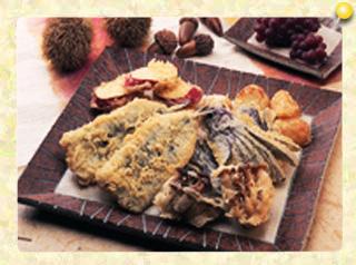 いわしと秋野菜のたっぷり天ぷら