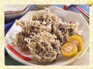 めんそ~れ!沖縄家庭料理もずくの天ぷら
