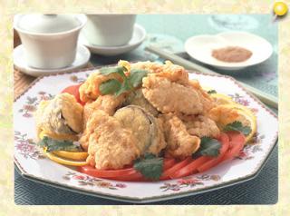 豚肉の中華風天ぷら