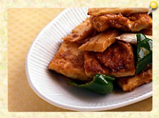 豆腐の衣焼きと野菜の煮こみ(家常豆腐)