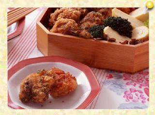 鶏の4色から揚げ弁当