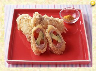 アボカドの肉巻き天ぷら