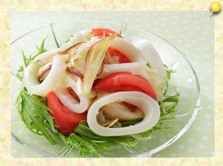 イカと野菜のマリネ