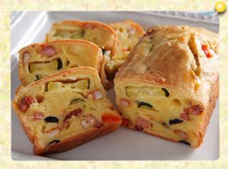 ベーコンとチーズのケーク・サレ