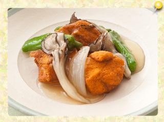 鶏胸肉のから揚げ 野菜あんかけ