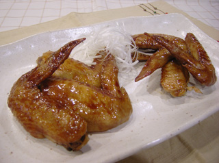 鶏手羽先の照り焼き