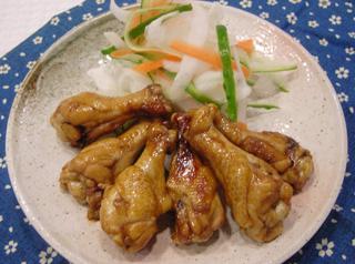 鶏手羽元の照り焼き