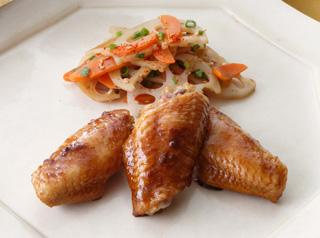 鶏手羽中のテリヤキ風&根菜きんぴら