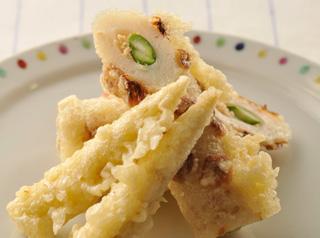 ちくわのツナアスパラ詰め天ぷら