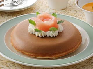 アップルスフレ風ホットケーキ