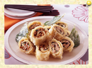 納豆ロール天ぷらとツナロール天ぷら