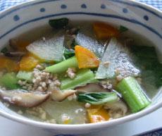 栄養たっぷりとうがんスープ