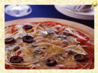 ブルーチーズとねぎの黒こしょうピザ