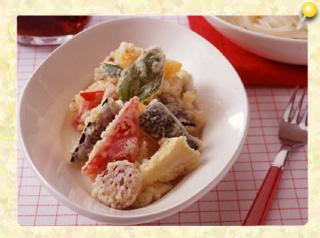 イタリアン天ぷらと冷製うどん