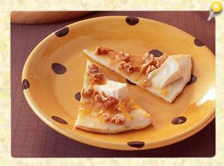 マーマレードとカマンベールのピザ